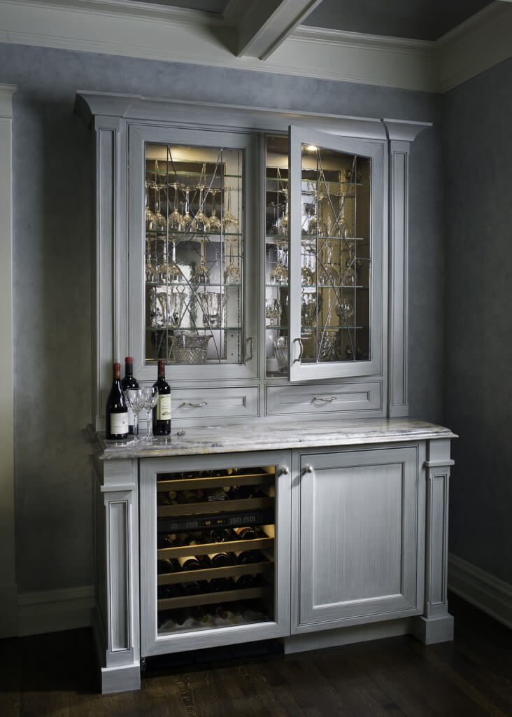 15 custom luxury home bar designs by drury design for Built in wall bar ideas