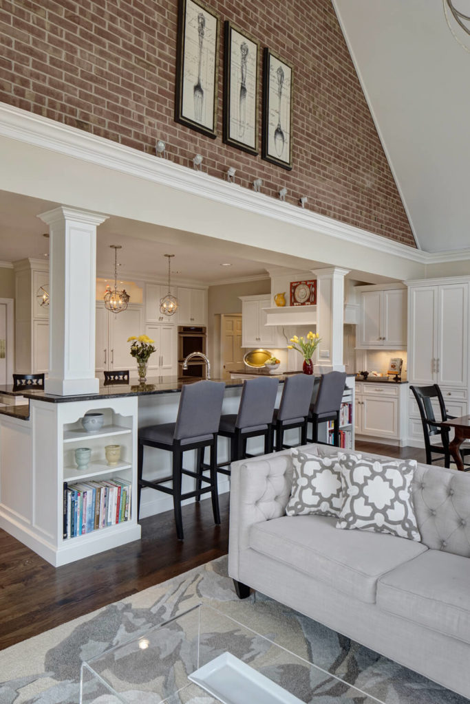 The Kitchen Expands Into The Open Family Room Space, Emerging Beneath An  Immense Vaulted Ceiling Part 45