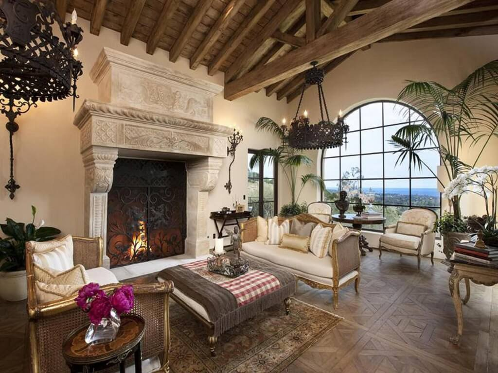 41 beautiful living rooms with fireplaces of all types - Living room with fireplace ...