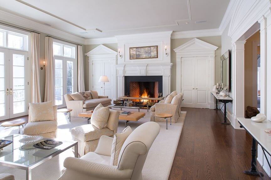 41 beautiful living rooms with fireplaces of all types