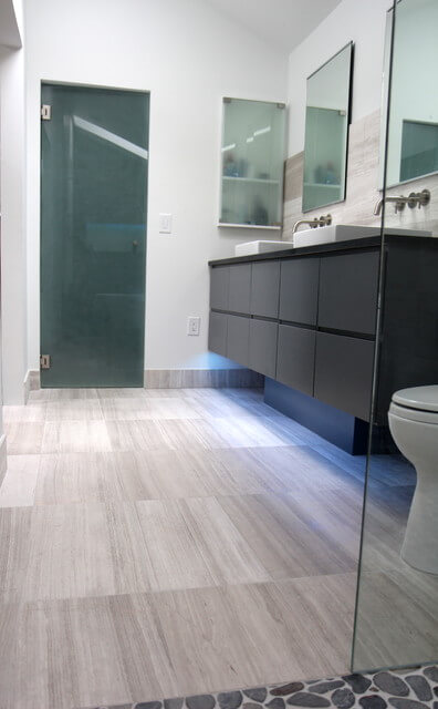 Cool Modern Gray Bathroom Design By Change Your Bathroom
