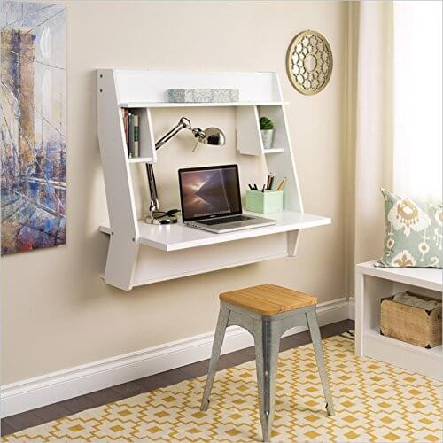 This Type Of Desk Is Mounted Directly Onto A Wall, Completely Saving All  Available Floor