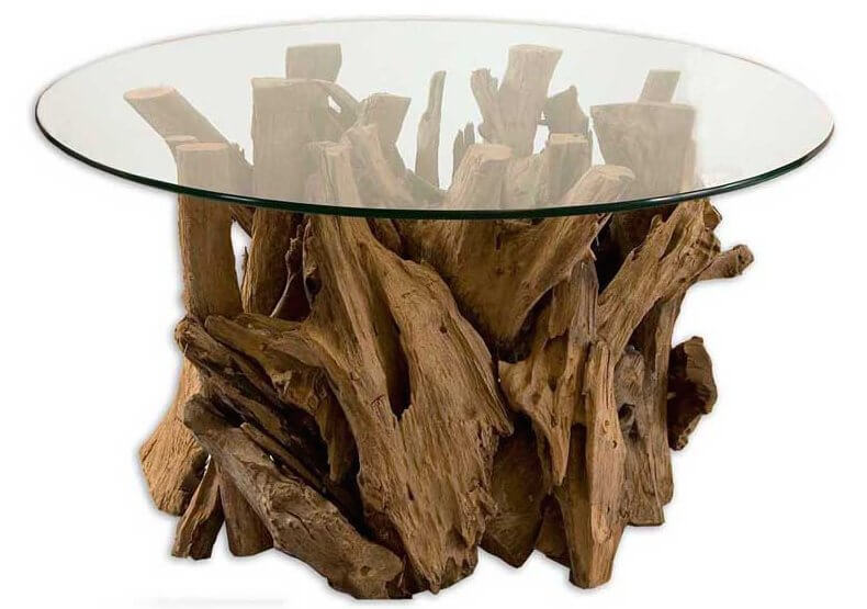 22 different types of coffee tables ultimate buying guide Tree trunk coffee table glass top