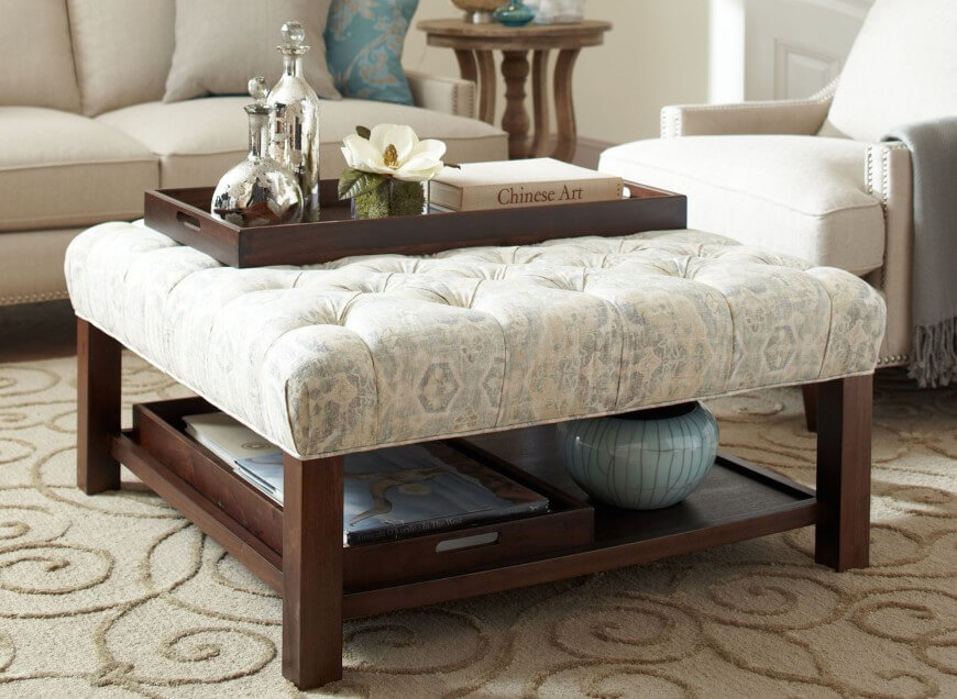 20 types of ottomans ultimate ottoman buying guide - Types of tables for living room and brief buying guide ...