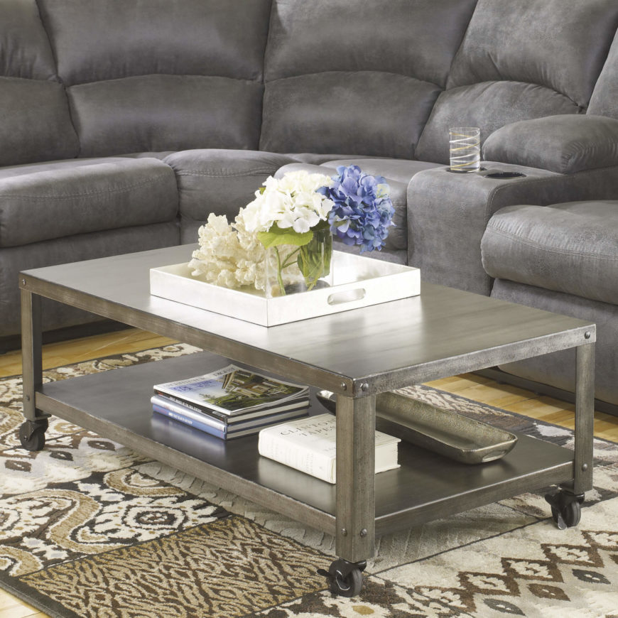 Metal Table Tops Often Accompany Industrial Styled Designs, But Can Also  Appear Alongside An Array .