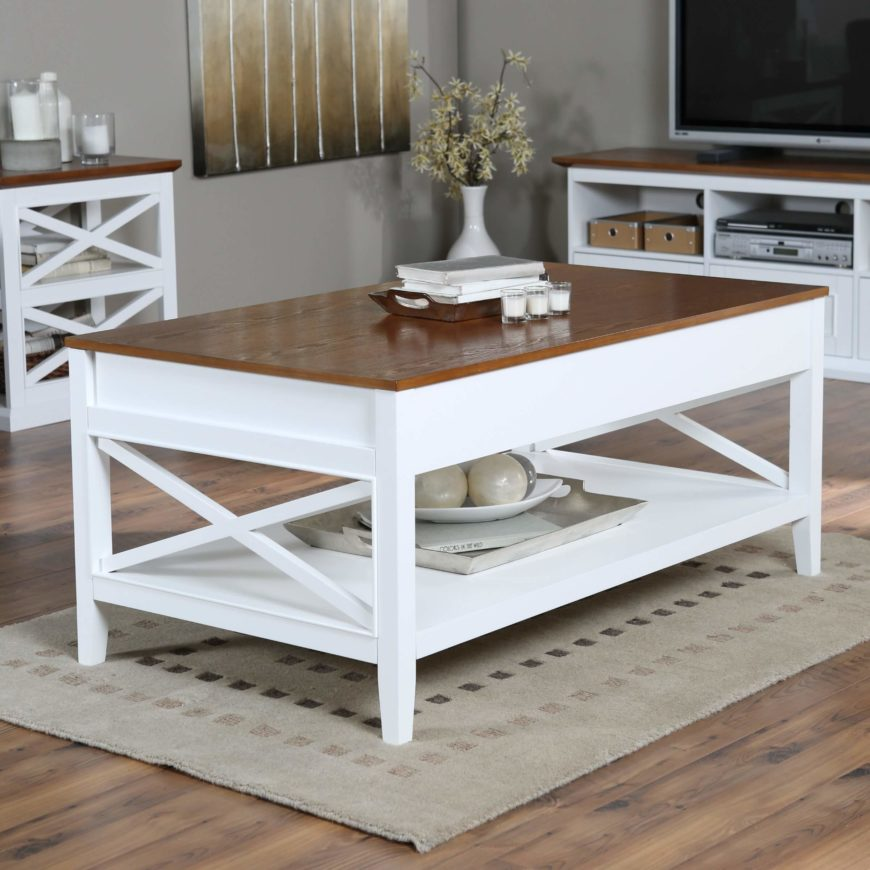 22 different types of coffee tables ultimate buying guide White wood coffee table