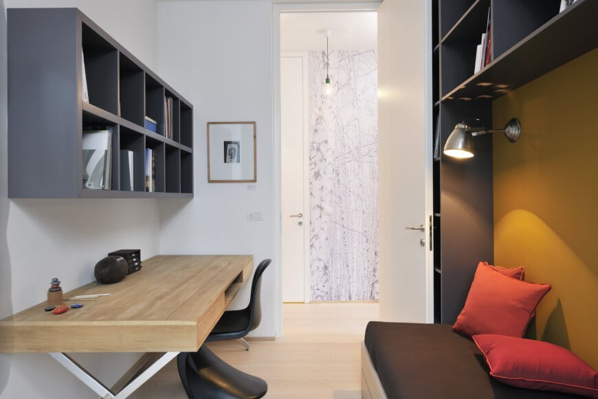 Den Design Ideas home library home and garden design ideas This Minimalist Home Office Is On The Smaller Side With A Simple Light Wood And