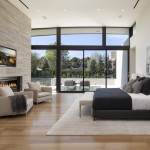 Incredible modern master bedroom suite with private balcony.