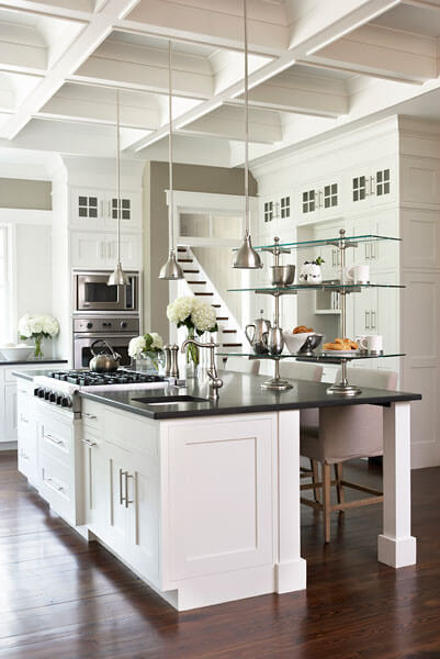 24 incredible custom kitchen designs pictures by top - Kitchen island with cooktop and seating ...