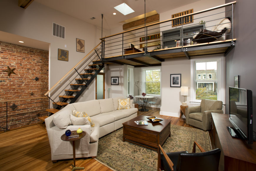 The Main Living Area Is Open Concept With An Loft Long White