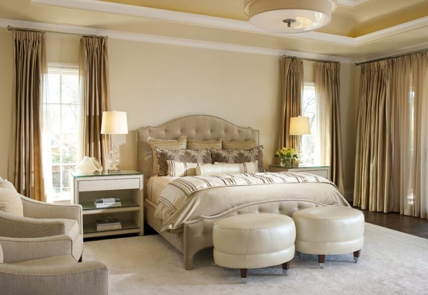33 incredible master bedroom designs from top designers for Elegant bedroom designs