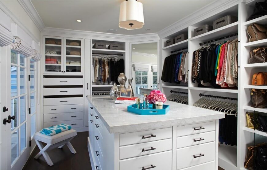 11 incredible walk in wardrobes for women by top designers - Pictures of walk in closets ...