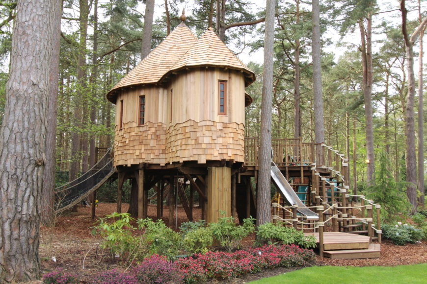 how to make a rope bridge for a treehouse