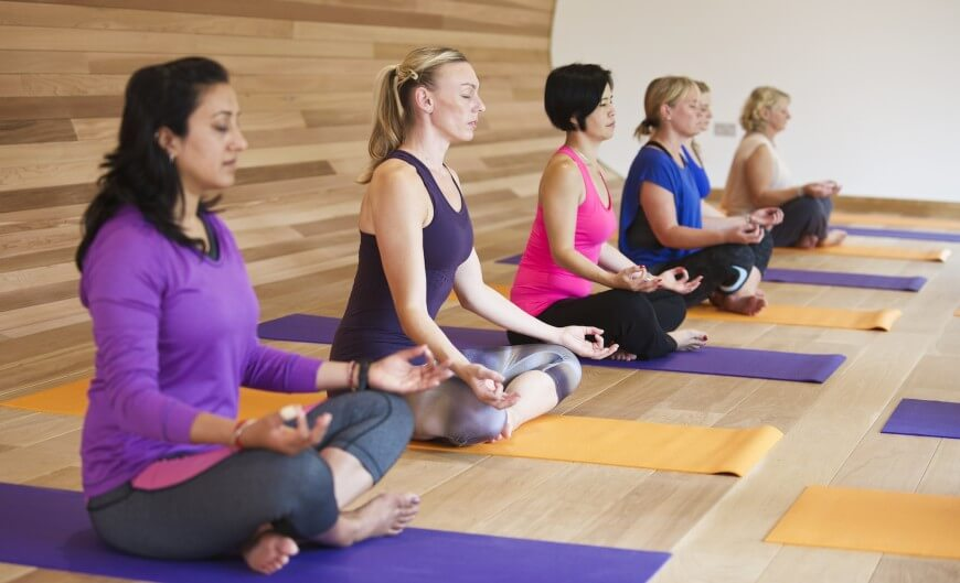 As demonstrated here, the space is perfect for encouraging the meditative mindset that yoga demands.