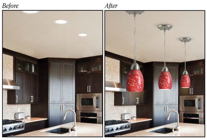 Convert Recessed Lighting Into Pendant Lighting For The Kitchen On A Budget