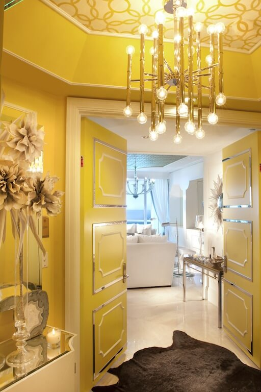 Yellow Foyer Ideas : Dkor interiors designs hollywood regency style home