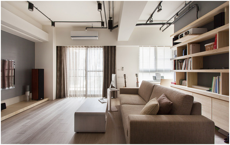 Minimalist Hu Residence Of Hsinchu With Natural Wood Throughout Gorgeous Large Living Room Window Minimalist
