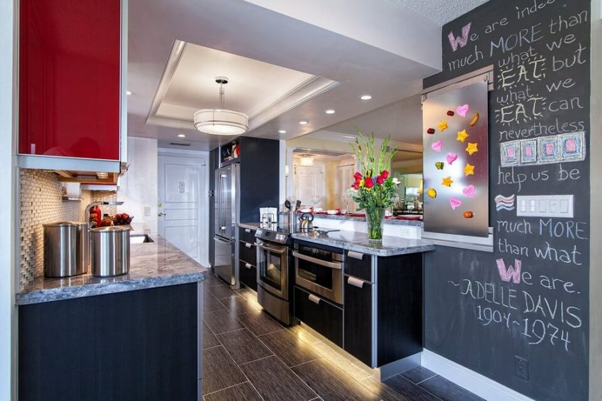 creative inspiration do it yourself kitchen remodel. Kitchen renovation with chalkboard wall 35 DIY Budget Friendly Remodeling Ideas for Your Home