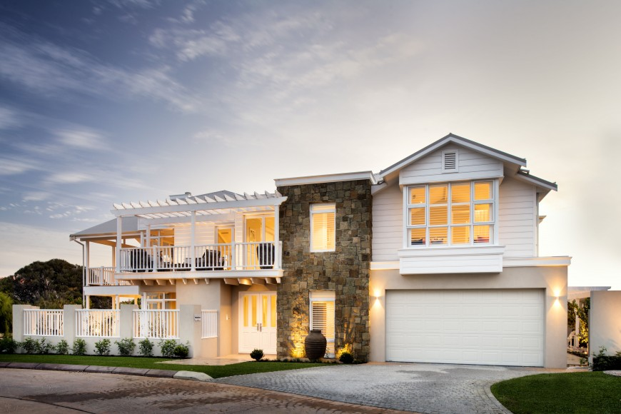 The Grayson Custom Home by Webb & Brown-Neaves exterior.