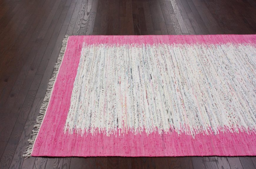 Cotton comprises the softest fibers you're likely to find a rug in. Versatile, strong, and pliant, cotton rugs often make a great counterpoint to hardwood flooring, as in our example model.