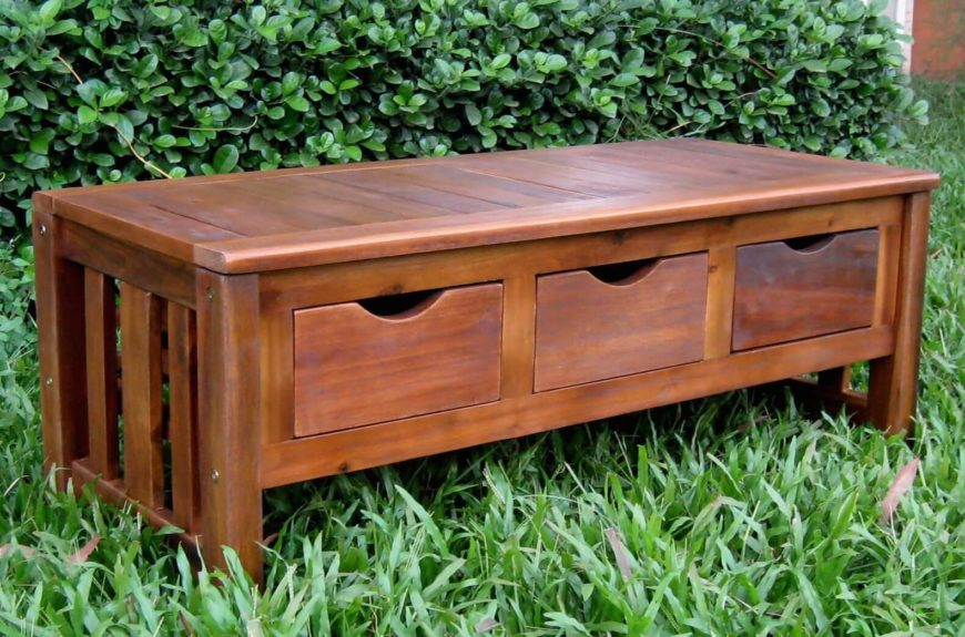 Lovely Bench Types Part - 14: With The Drawer Design, The Bench Features A Solid Frame With Pull-out  Storage