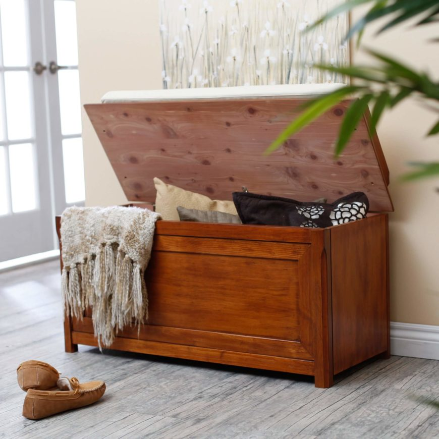 Wonderful Bench Types Part - 9: The Most Traditional Of Storage Bench Types, The Flip Top Offers The Most  Generous Interior