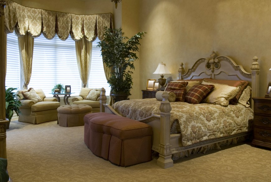 44 stylish master bedrooms with carpet for Grand bedroom designs