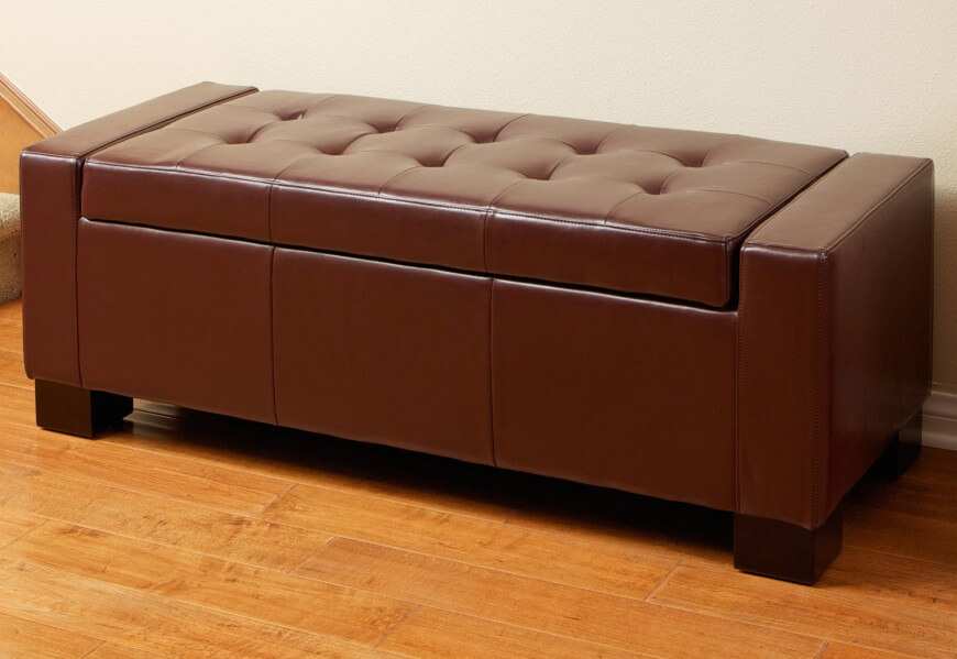 Bench Types Part - 22: Leather Clad Storage Benches Are Most Often Found In Entryways, Bedrooms,  Or Even Living