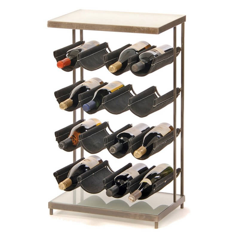 a second example of metal wine rack pictured here shows the ability