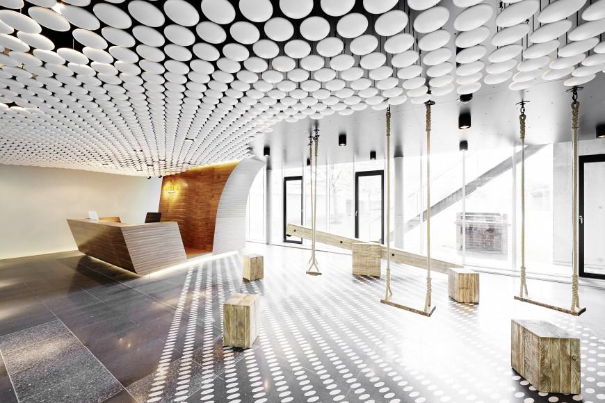 remarkable modern corporate office interior design. Black Bedroom Furniture Sets. Home Design Ideas