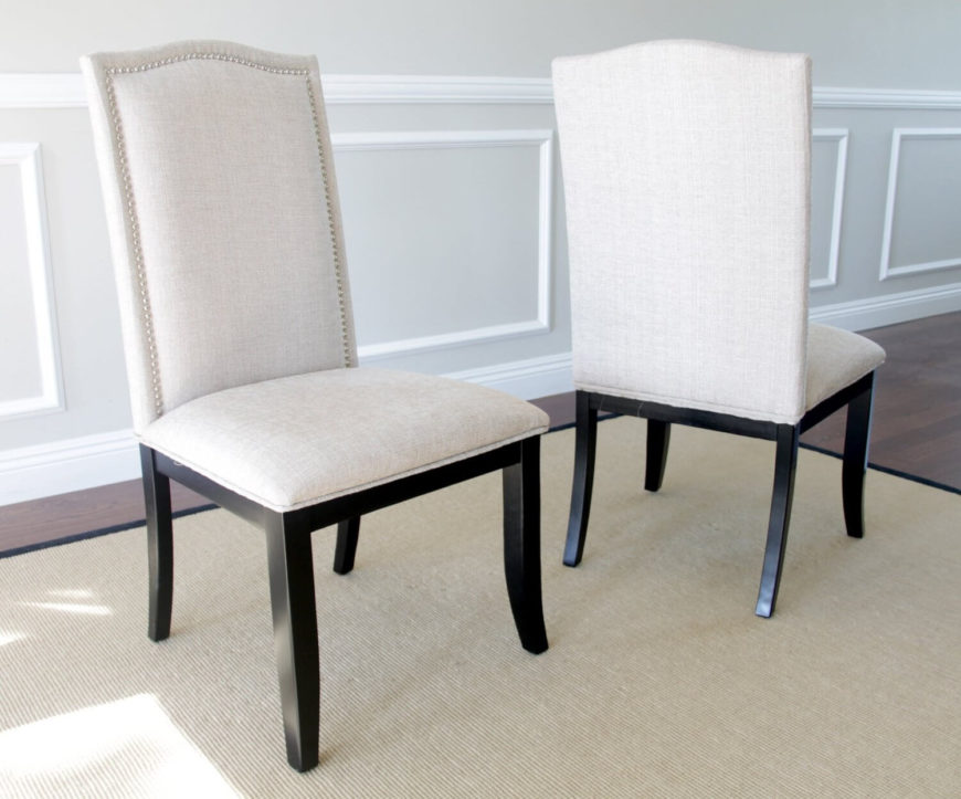upholstered seats are the most comfortable option with a soft texture and cushioned bottom - Best Dining Chairs