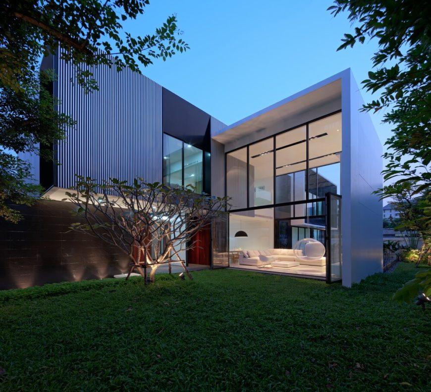 Современный дом дизайн Ayutt и партнеров дизайн