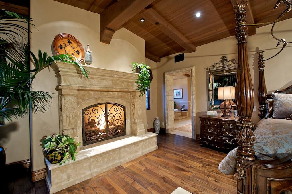 50 impressive master bedrooms with fireplaces photo gallery for Luxury fireplace designs