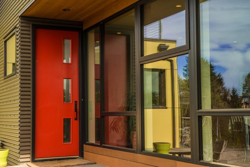 the door to this home is a more modern exle compared to the previous exles - Modern Exterior Doors