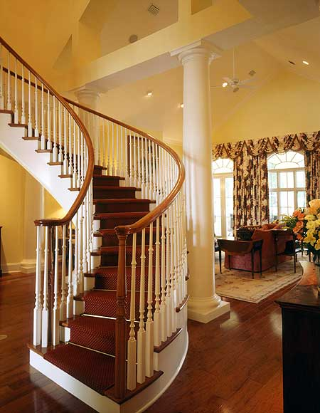 26 incredible foyers entrance halls by top interior for House plans with stairs in foyer