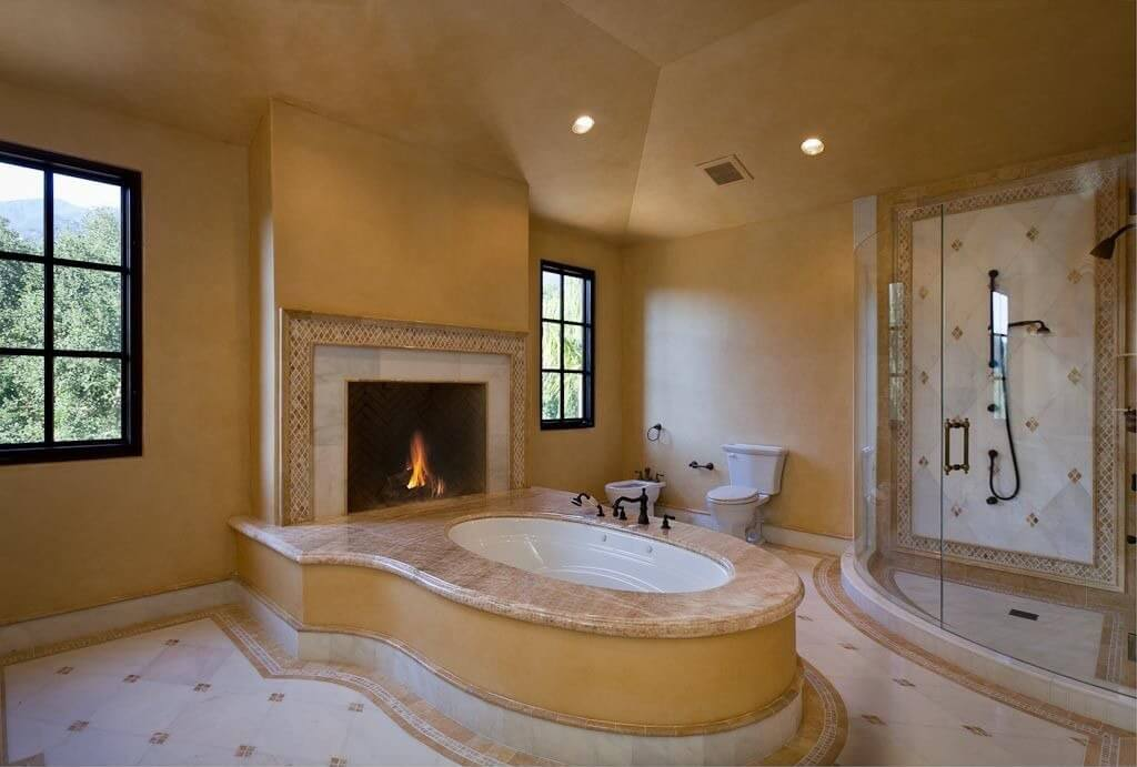 18 Master Bathrooms With Fireplaces Pictures