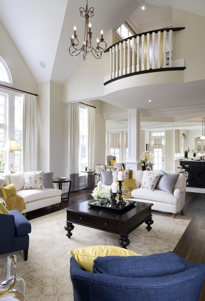 outstanding navy white living room | Jane Lockhart Interior Design Creates Elegant Interior for ...