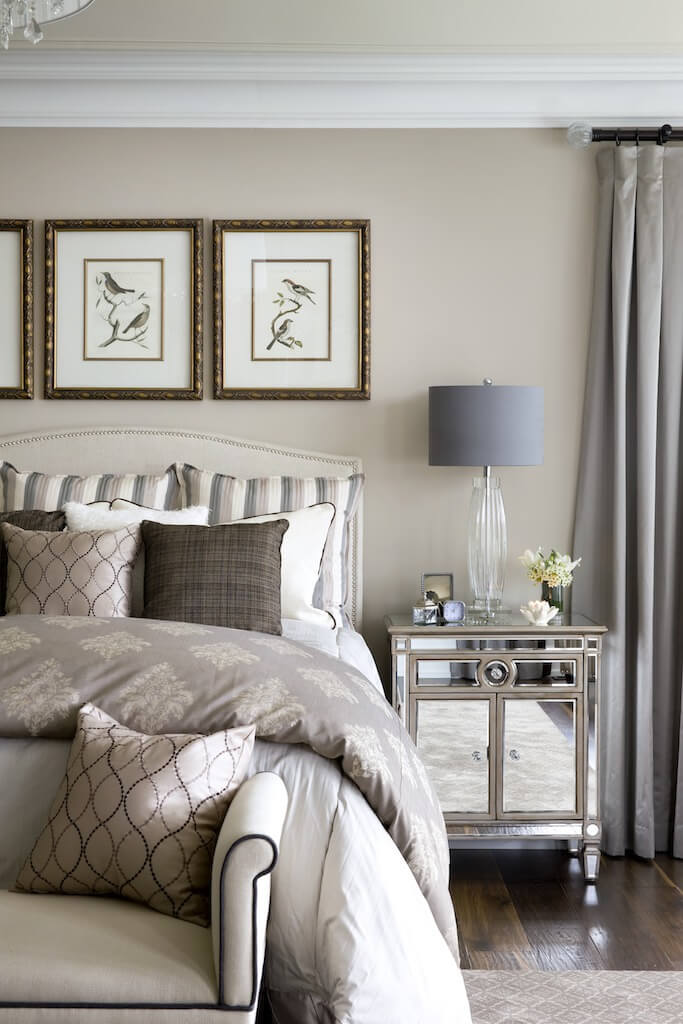 Jane lockhart interior design creates elegant interior for custom kylemore home - Gorgeous bedroom decoration with various sliding bed table ideas ...