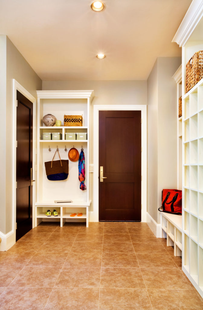 Stately contemporary rustic interior design home by for Mudroom addition plans