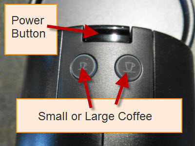 Nespresso Pixie Power Button and Settings Buttons