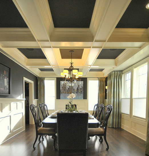13 gorgeous rooms with custom coffered ceilings by