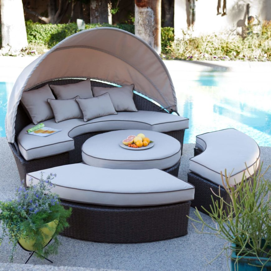 Patio Furniture Sectionals Here39s Another Circular Wickerbased Sectional  Outdoors Settings With Large Retractible Home Stratosphere on Sich. Patio Furniture Sectionals  Patio Furniture Sectionals Here39s