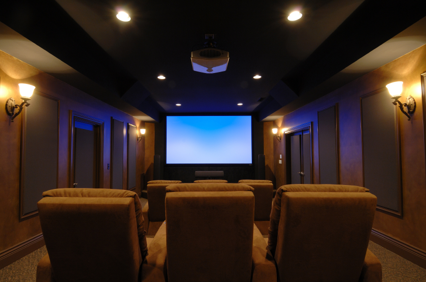 32 luxury home media room design ideas incredible pictures for Small room movie theater