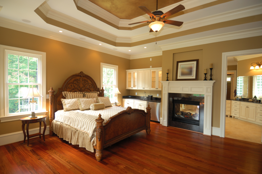 50 impressive master bedrooms with fireplaces photo gallery - Beautiful bed room wall color ...
