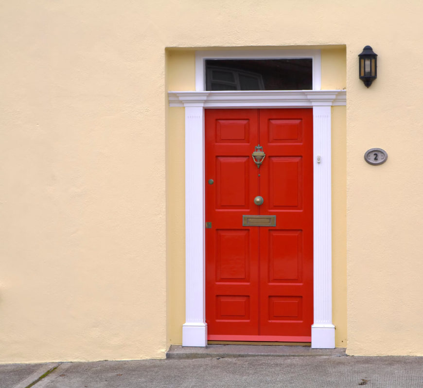 35 different red front doors many designs pictures for Door design with highlighter