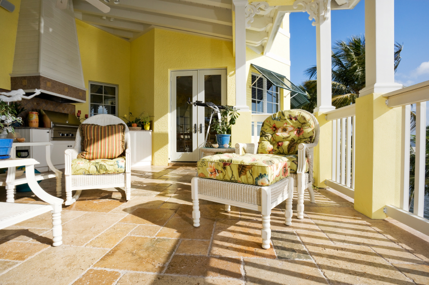50 covered front home porch design ideas pictures home for Covered porch flooring options