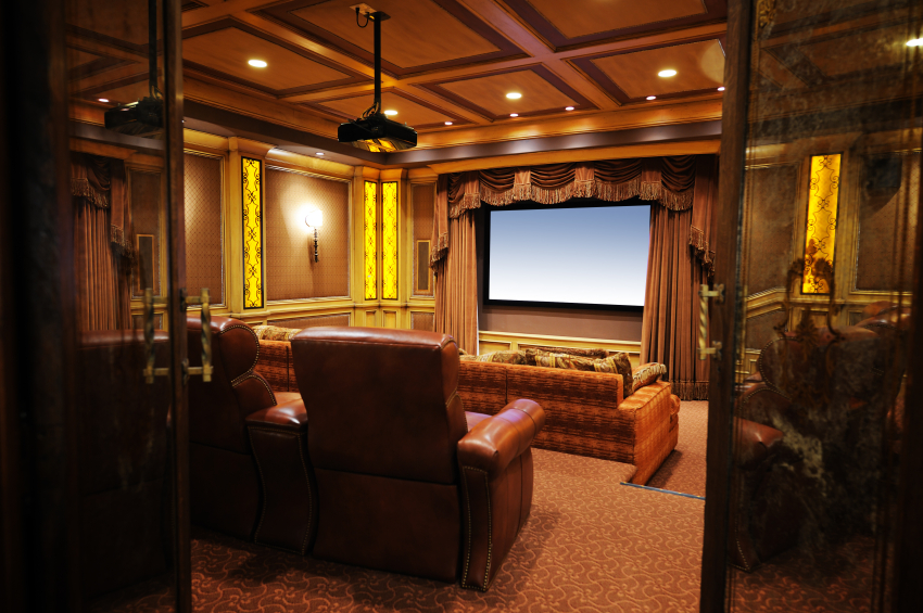 This Home Theater Is Designed In A Very Traditional Theater Style