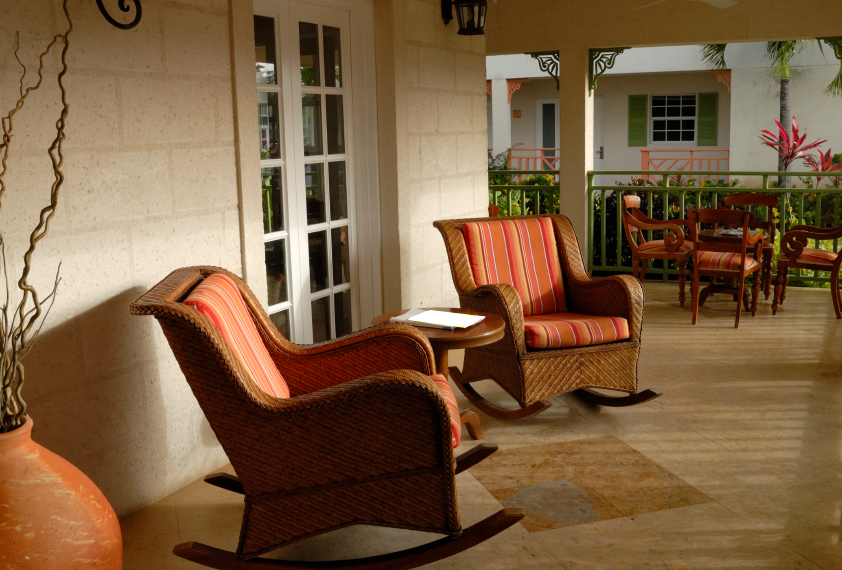 Red Rocking Chairs On Front Porch ~ Covered front home porch design ideas pictures