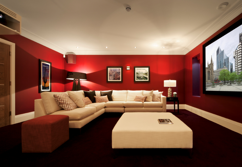 32 luxury home media room design ideas incredible pictures Media room paint ideas