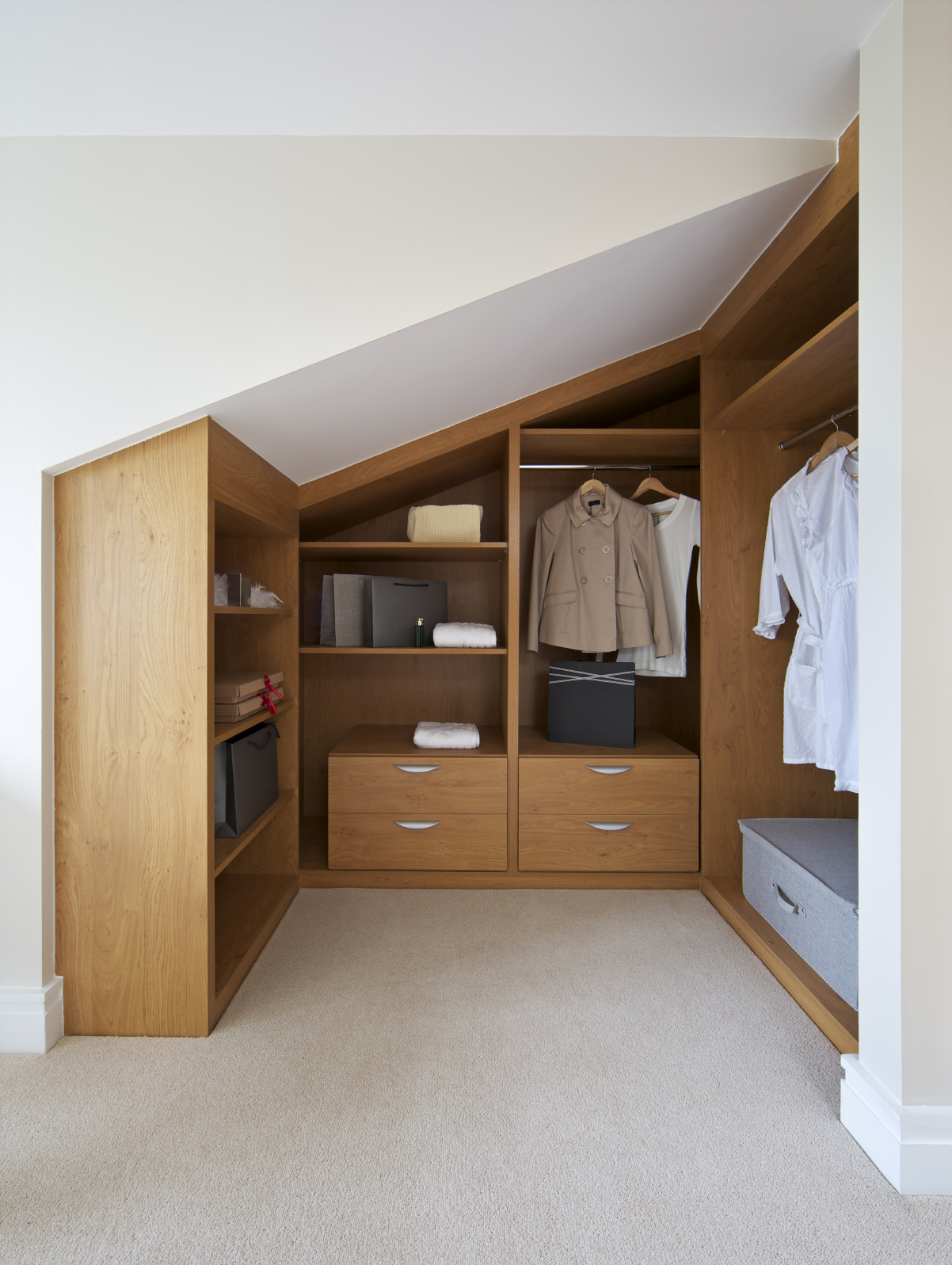 This Closet Is On The Smaller End Tucked Into A Nook Of A Bedroom